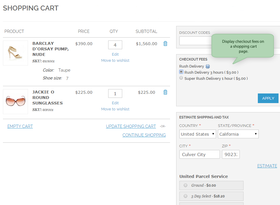 magento-extra-fees-shopping-cart